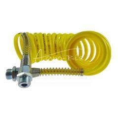 Przewód łączeniowy spiralny żółte osłony poliamid gwint zewnętrzny 22x1.5 dł 6m ARCHIMEDES