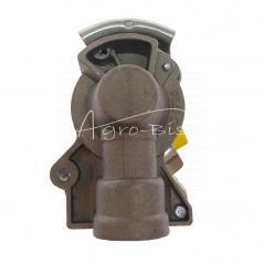 Złącze powietrza miękkie z zaworem żółte dwuobwodowe 16x1.5 ISO 1728 ARCHIMEDES