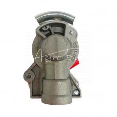 Złącze powietrza miękkie z zaworem czerwone dwuobwodowe 16x1.5 ISO 1728 ARCHIMEDES