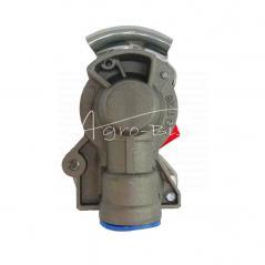 Złącze powietrza miękkie z zaworem czerwone dwuobwodowe 22x1.5 ISO 1728 ARCHIMEDES